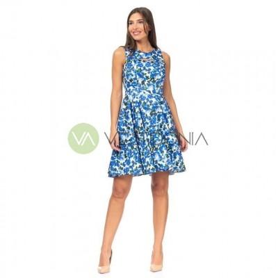 Vestido Flora Azul