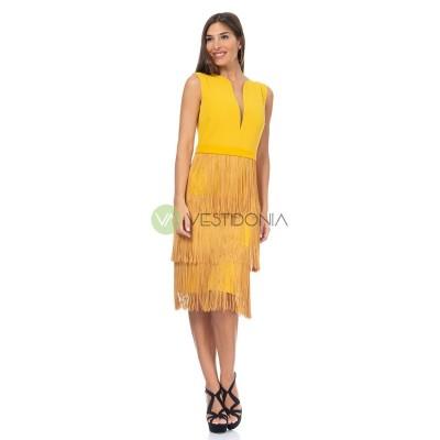 Vestido Agatha Ocre