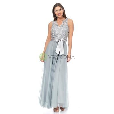 Vestido Amelie Plata