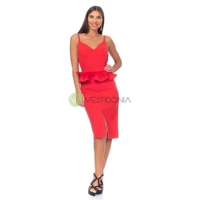 Vestido Laura Rojo
