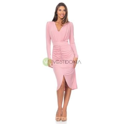 Vestido Elisa Rosa
