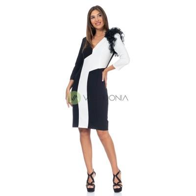 Vestido Eva B/N